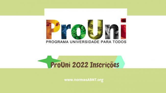 ProUni 2022 Inscrições