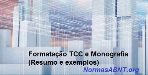 Formatação TCC