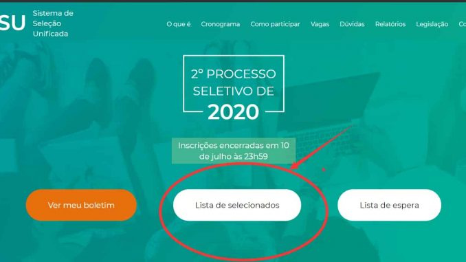 consulta lista de selecionado sisu 2022