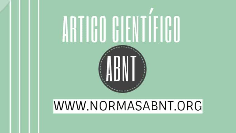 Artigo científico ABNT