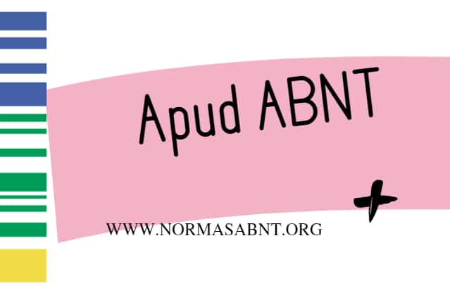 apud abnt