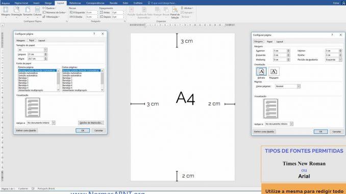 exemplo de configurar layout