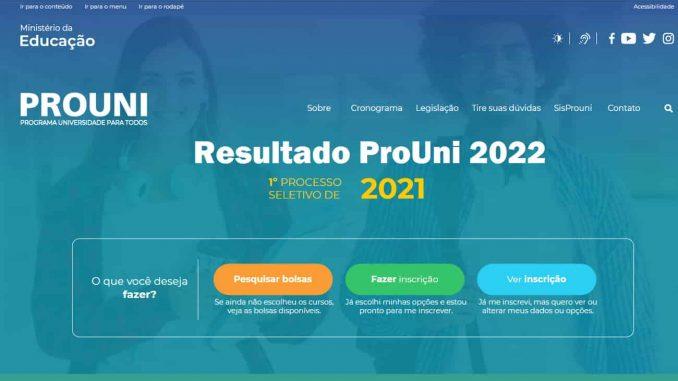 consulta resultado prouni 2022
