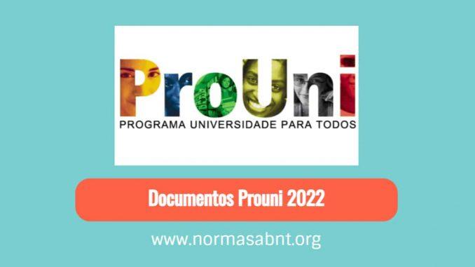 Documentos Prouni 2022