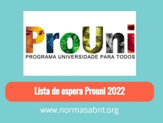Lista de espera Prouni 2022