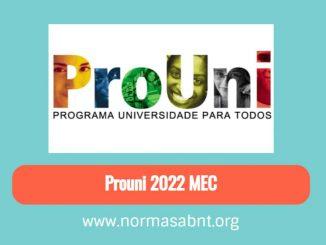 Prouni 2022 MEC