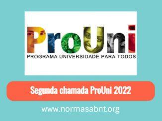Segunda chamada ProUni 2022