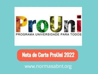 Nota de Corte ProUni 2022