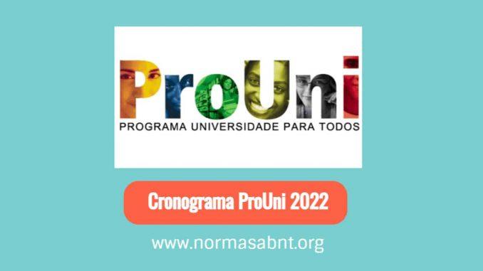Cronograma ProUni 2022