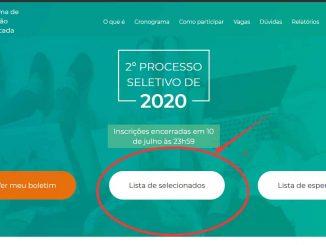 Segunda chamada SISU 2022