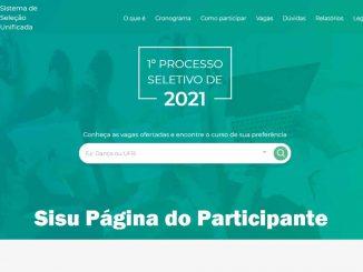 Página do participante SISU