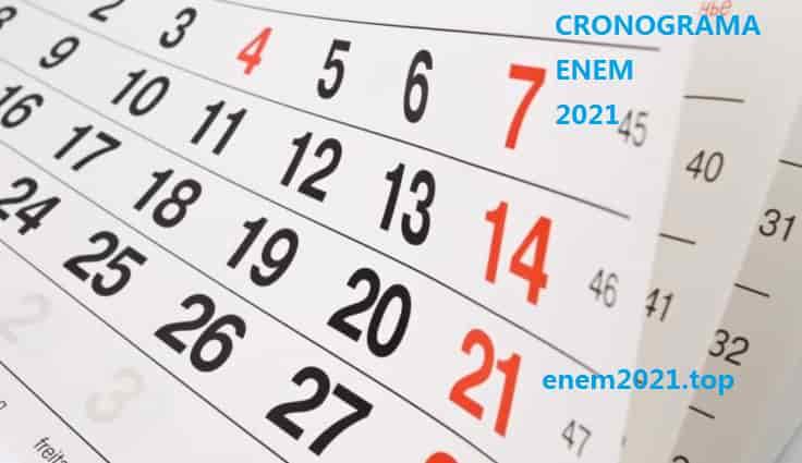 Cronograma Enem 2021 - quando abrem as inscrições