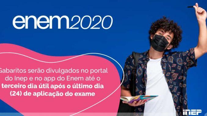 gabarito do Enem 2020