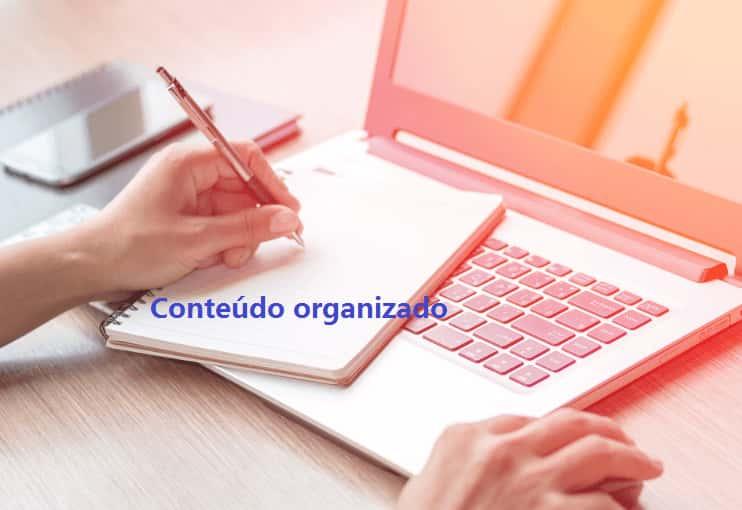 Conteúdo organizado