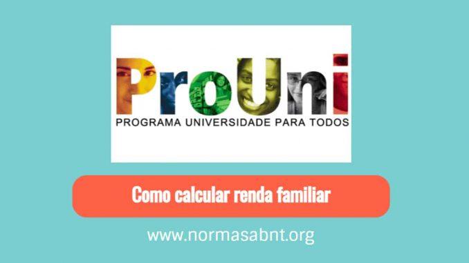 Como calcular renda familiar mensal bruta per pessoa