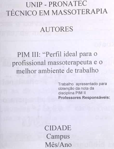 Modelo Pré-textuais Folha de Rosto