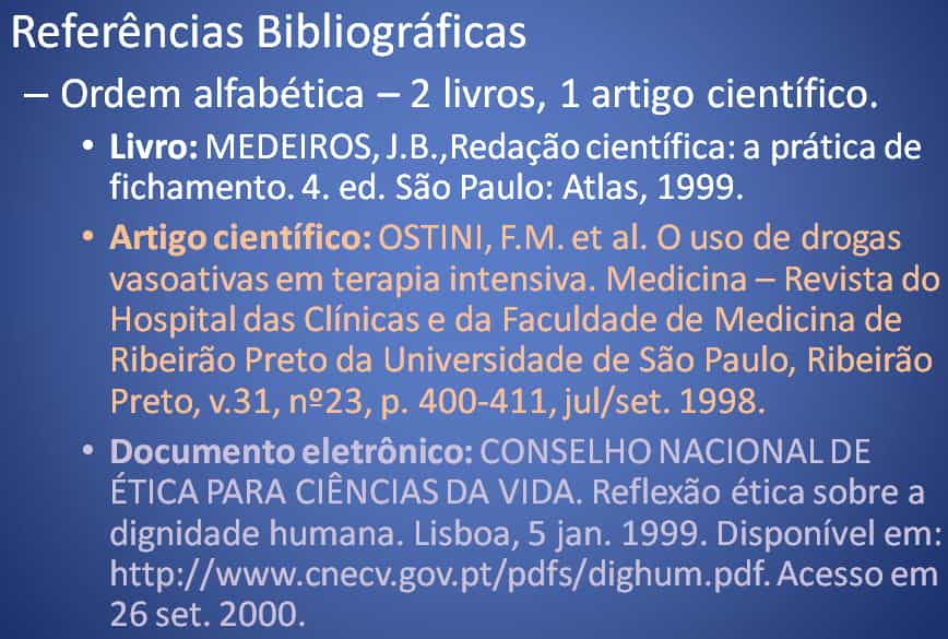 Modelo Referências Bibliográficas