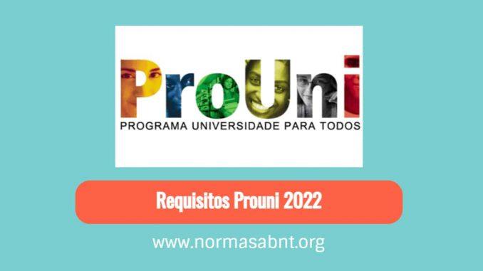 Requisitos Prouni 2022