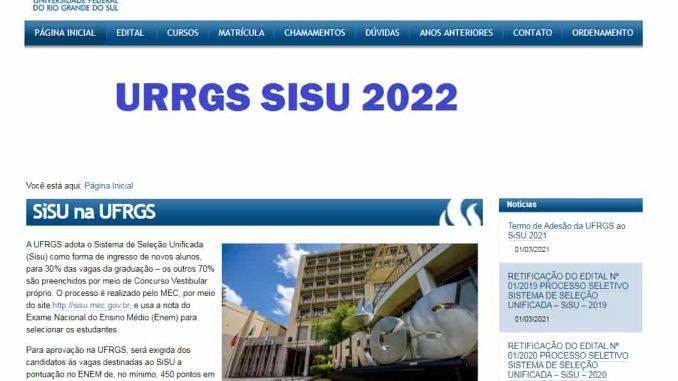 UFRGS sisu 2022