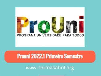 Prouni 2022.1 Primeiro Semestre