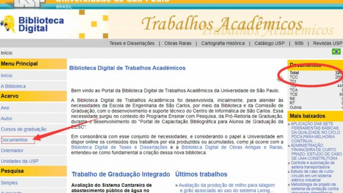 Biblioteca digital da Universidade de São Paulo