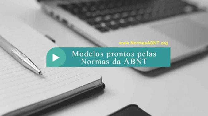 Modelos prontos pelas Normas da ABNT