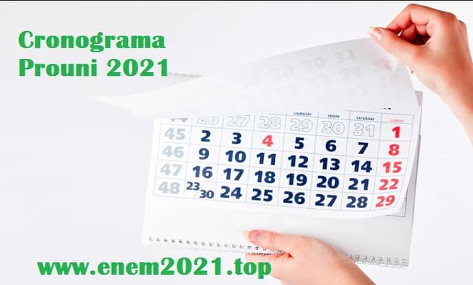 cronograma prouni 2021