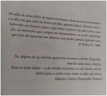 """epígrafe do livro """"D. Pedro II: a história não contada"""" de Paulo Rezzutti"""