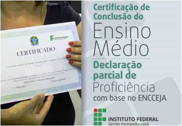 um certificado encceja