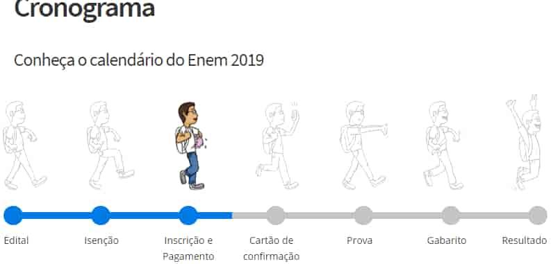 cronograma enem 2021