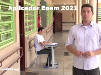 Aplicador da prova do Enem 2021