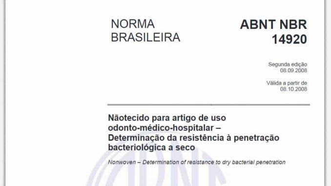 ABNT NBR 14920