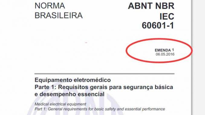 ABNT NBR IEC 60601-1:2010 Emenda 1