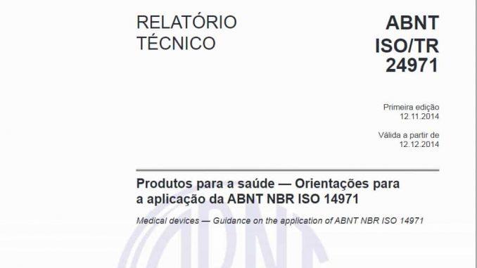 ABNT NBR ISO TR 24971