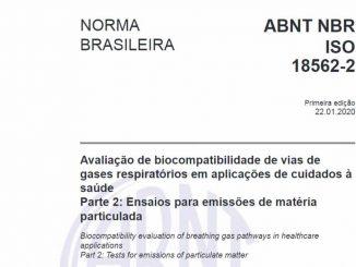 Código - ABNT NBR ISO 18562-2