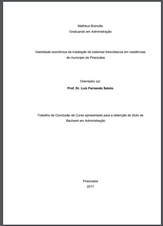 Pré-textuais Folha de Rosto modelo 1