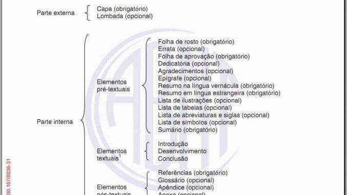A estrutura de trabalhos acadêmicos