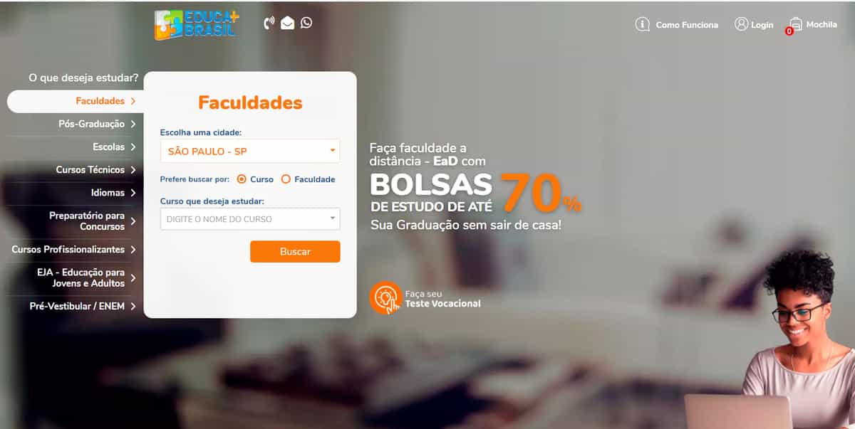 página inicial educa mais brasil