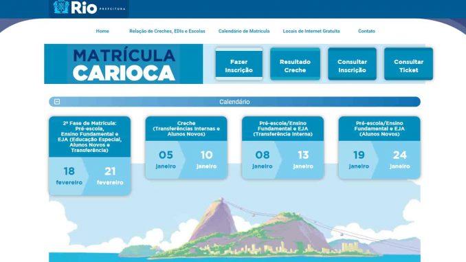 Matrícula Rio 2022