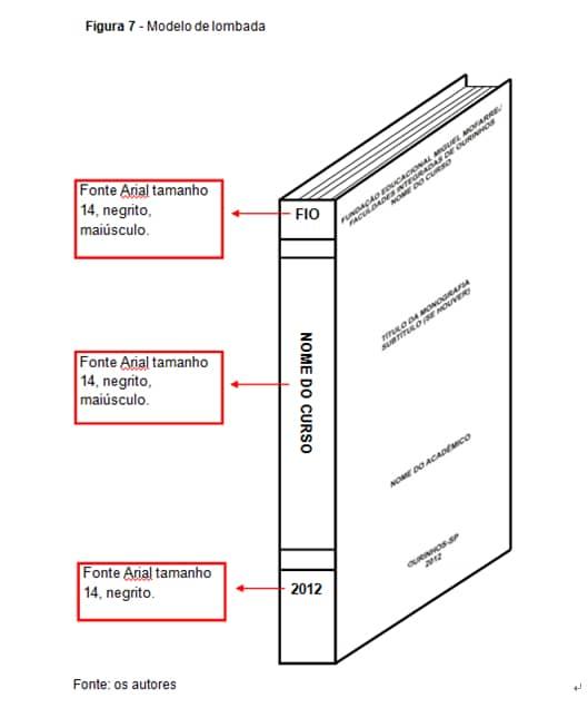 Figura 3 Normas para Lombada da UPS