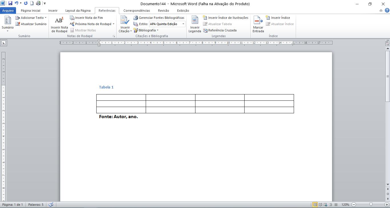 Como inserir tabela no Word