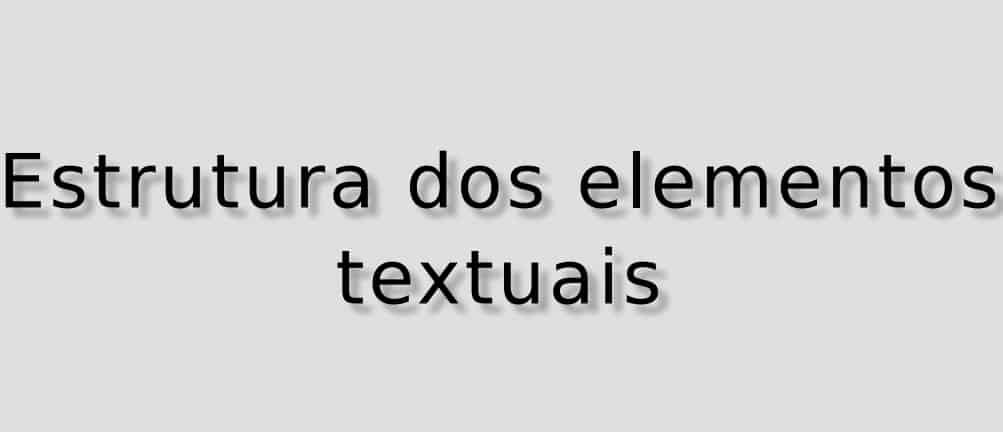 Elementos textuais do Trabalho de Conclusão de Curso