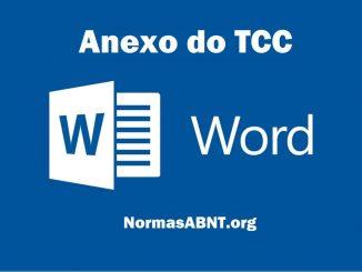 formatação anexo do tcc