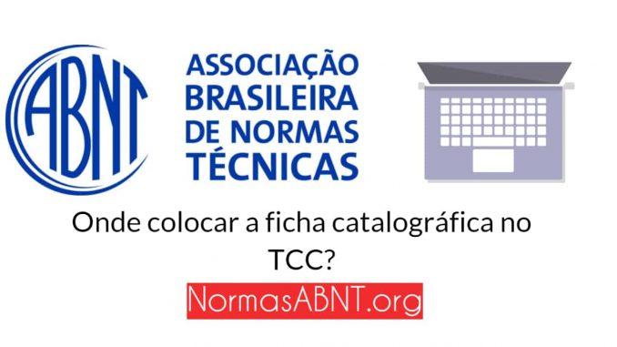 Onde colocar a ficha catalográfica no TCC