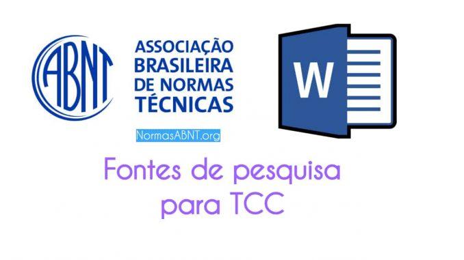 Fontes de pesquisa para TCC