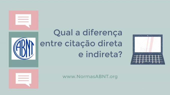 diferença entre citação direta e indireta